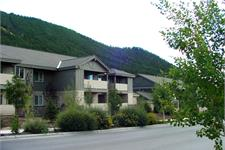Apartment Complex In Front of Mountain